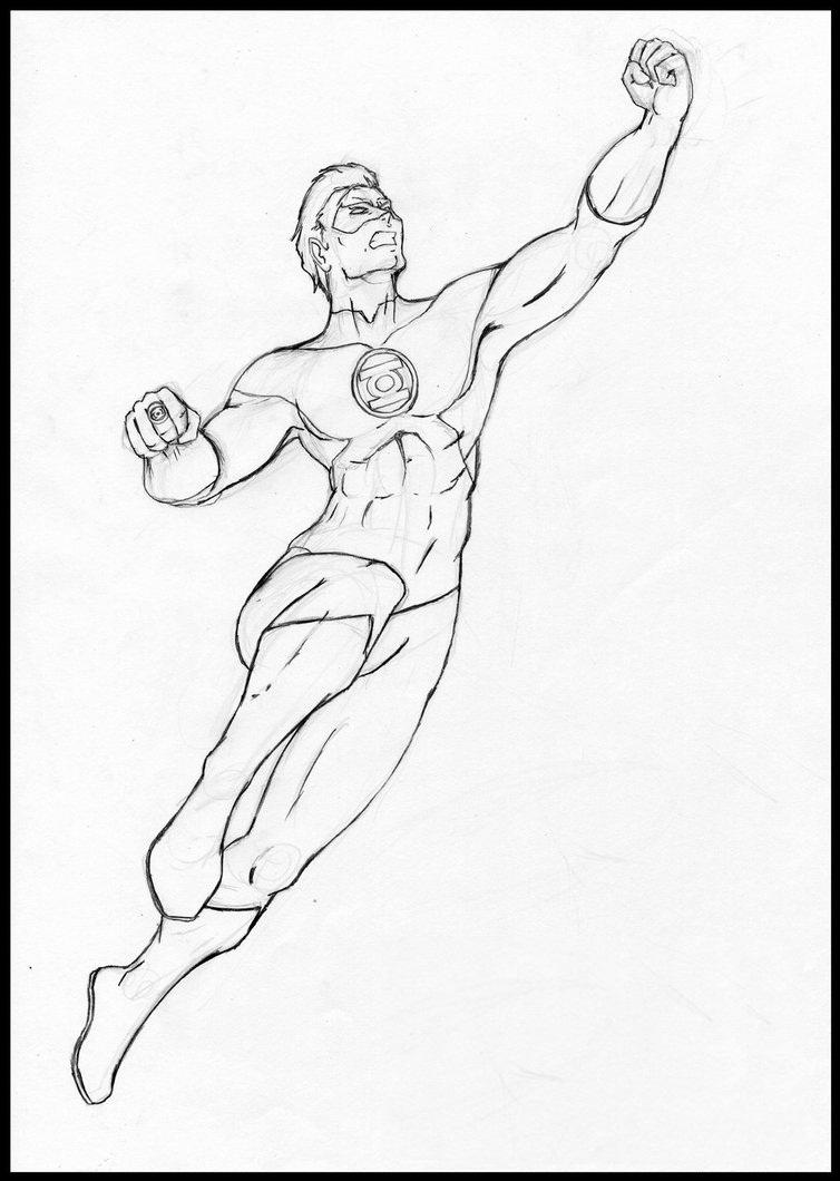 754x1060 Female Green Lantern Coloring Page Printable