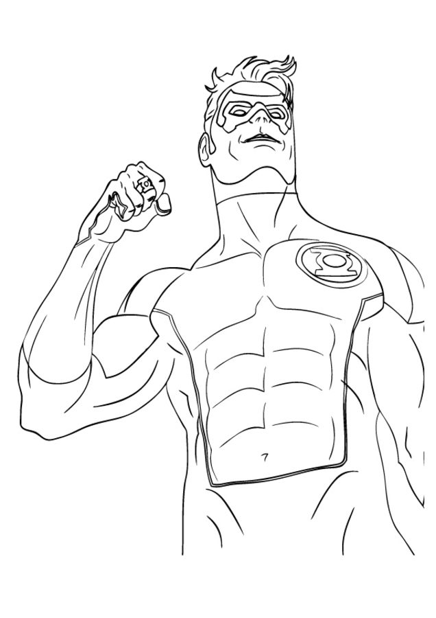 Green Lantern Logo Drawing