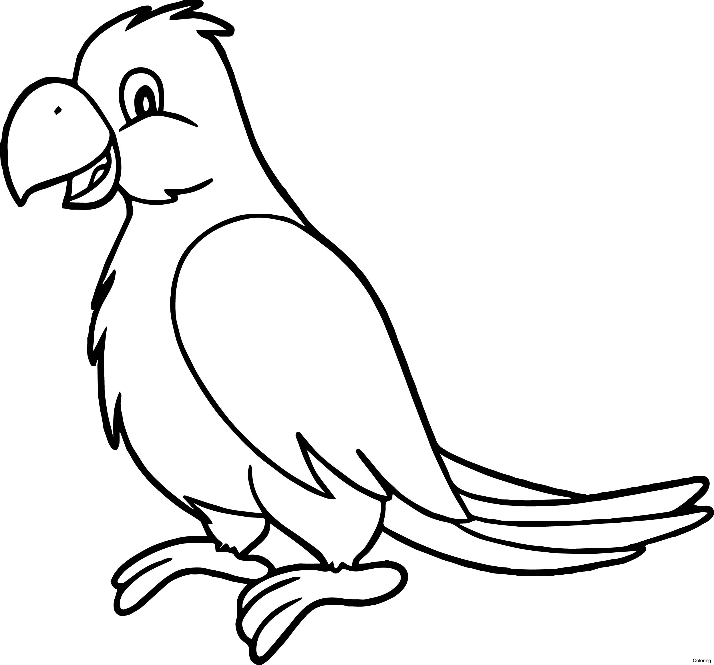 2497x2326 Blue Crowned Green Parrot Coloring Page Pages 8f Of Fish Online