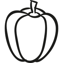 256x256 Red Pepper, Vegetable, Green Pepper, Food, Pepper Icon