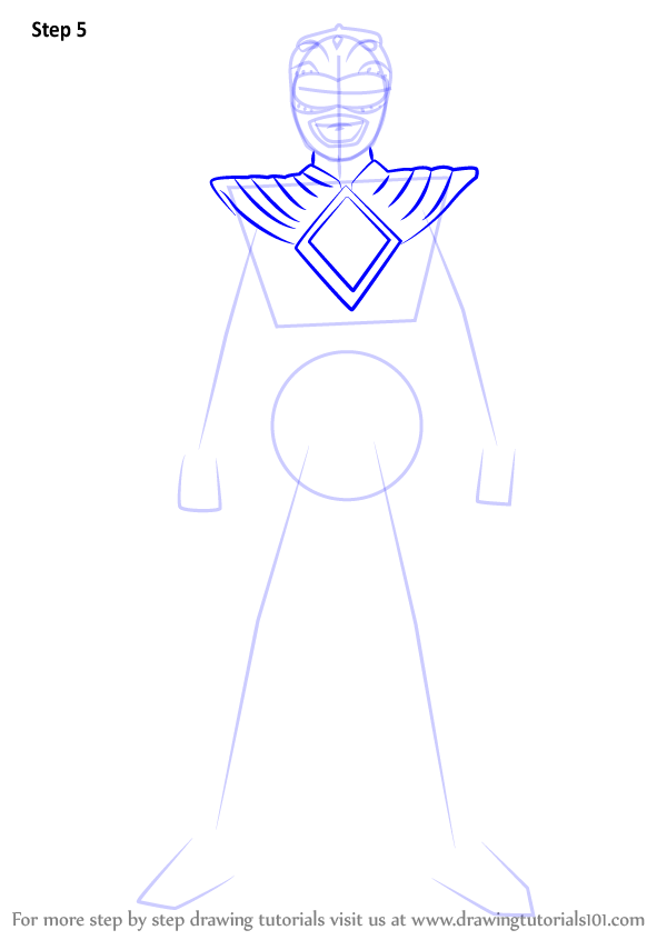 600x846 Learn How To Draw Green Ranger From Power Rangers (Power Rangers