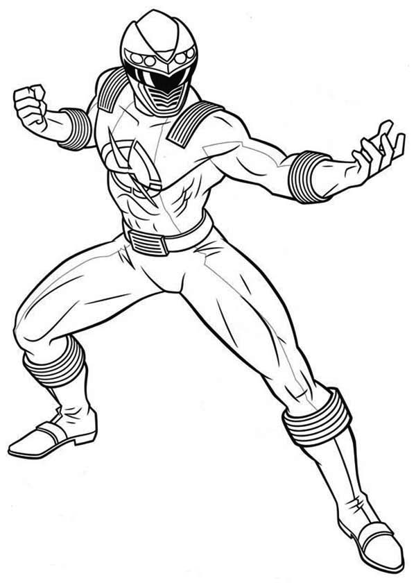 600x840 Power Rangers Ninja Storm Fighting Pose Coloring Page Color Luna