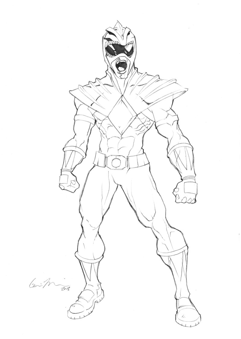 Original Power Ranger Coloring Pages Www Topsimages Com