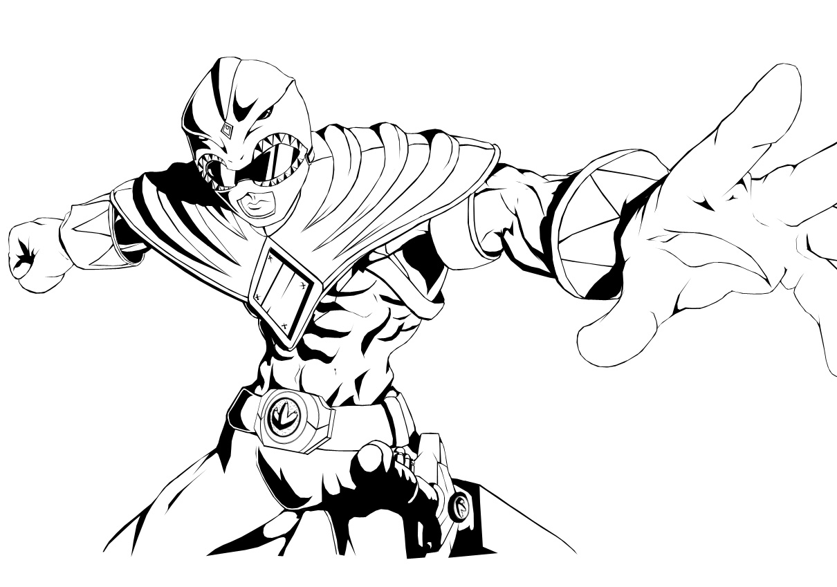 Green Power Ranger Drawing at GetDrawings.com | Free for personal ...