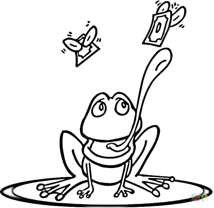 750x729 Frog Color Sheets Frog On Lily Pad Green Tree Frog Coloring Page