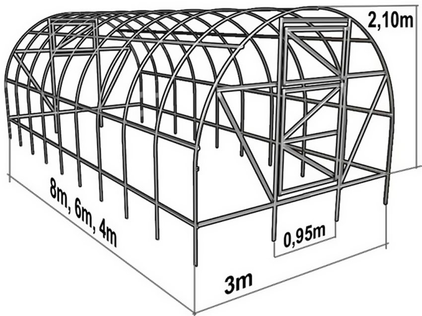 850x637 Greenhouse Made Of Polycarbonate With Their Hands From The Profile