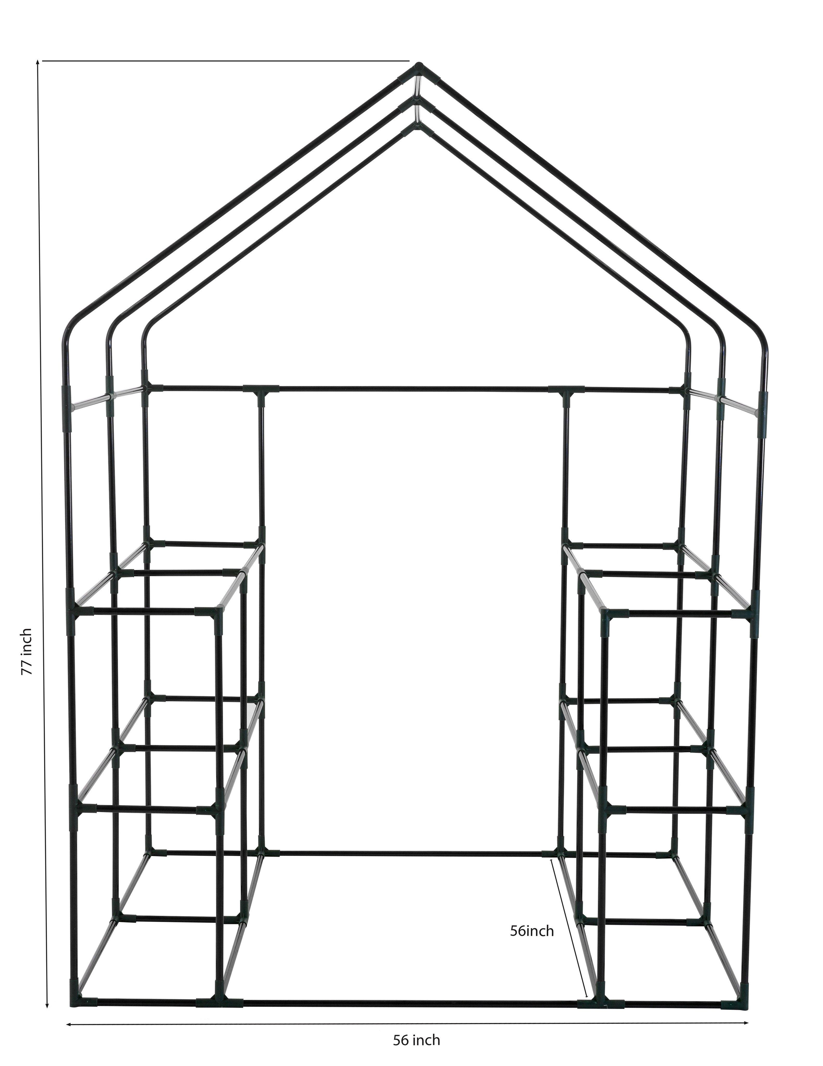 3165x4096 Ogrow Deluxe Walk In 6 Tier 12 Shelf Portable Greenhouse