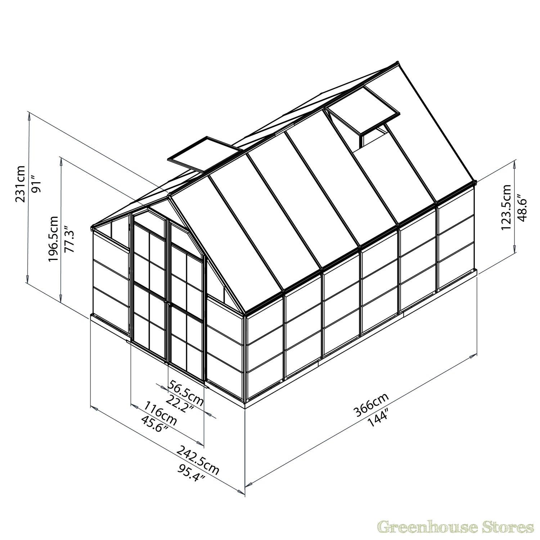 1500x1500 Palram Balance 8x12 Greenhouse Polycarbonate
