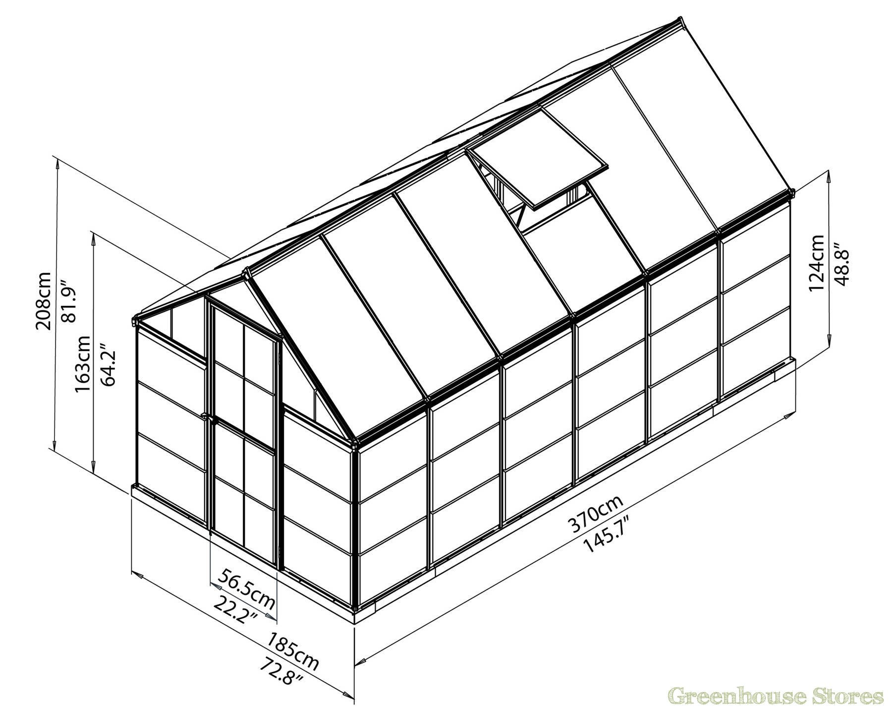 1800x1440 Palram Hybrid 6x12 Polycarbonate Greenhouse