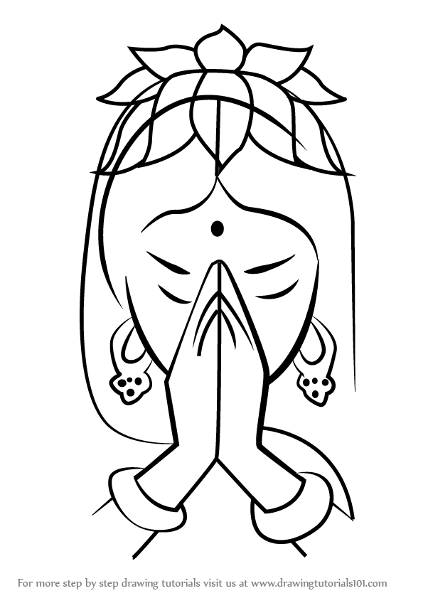 602x848 Learn How To Draw Diwali Greetings (Diwali) Step By Step Drawing