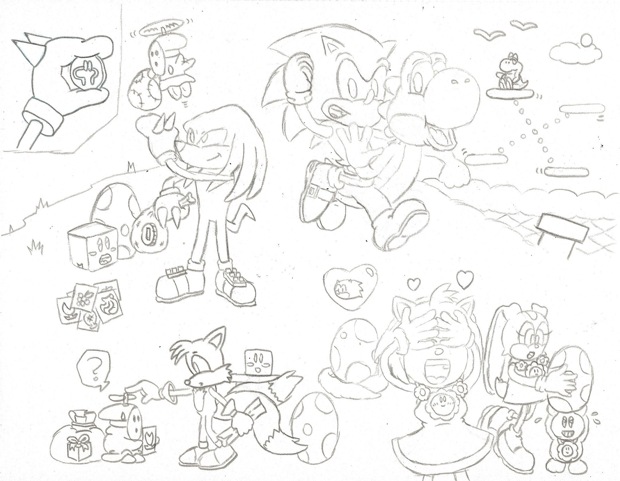 2166x1679 Sonic Says Greetings From Yoshi's Island Zone!! By Koopakrusher