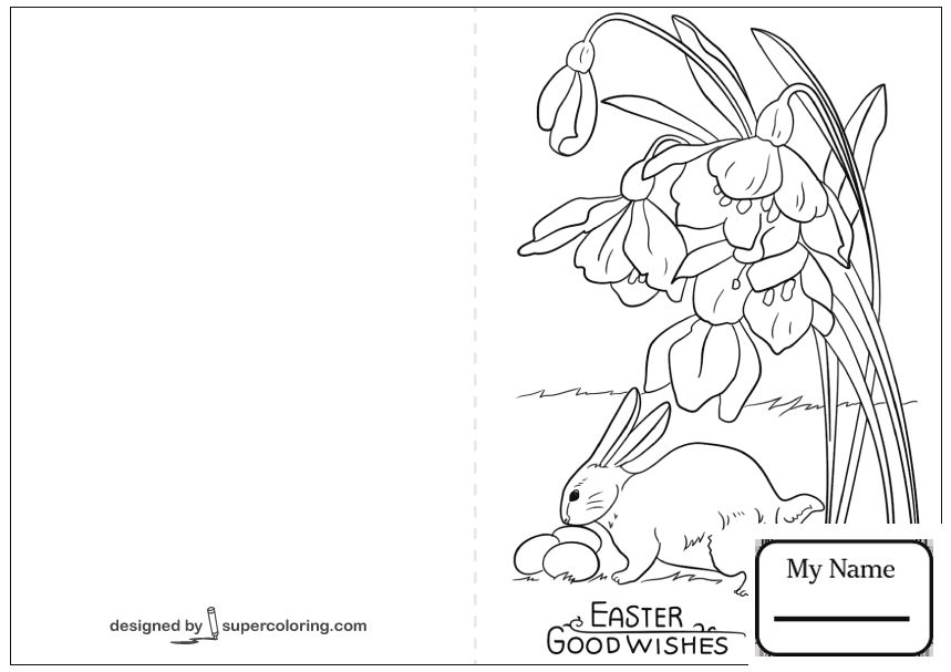 859x607 Coloring Pages For Kids Easter Cards Doodle Greetings Card