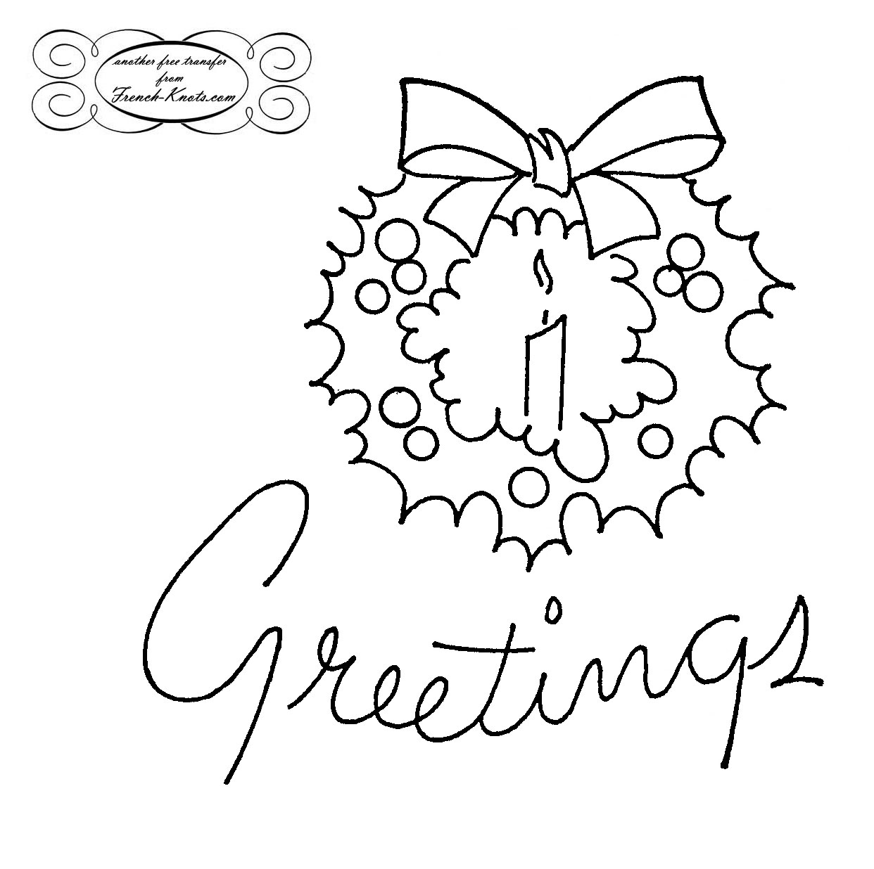 1242x1236 Christmas Greetings Embroidery Patterns