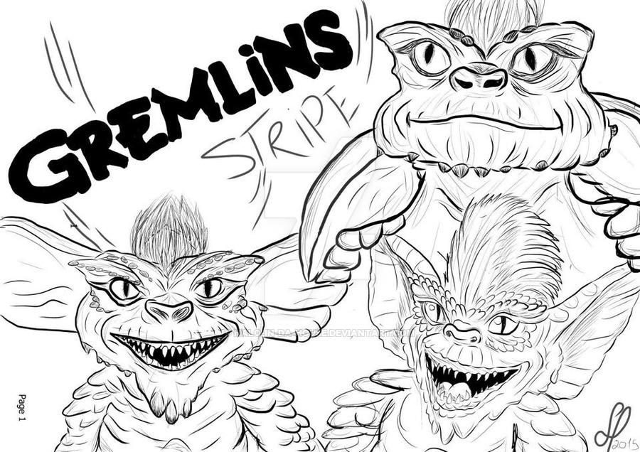 900x636 Stripe The Gremlin, Digital Art By Halo In Da House