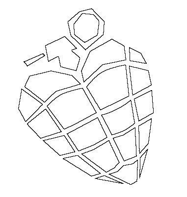 381x402 Heart Grenade Lineart By Alteregoangel