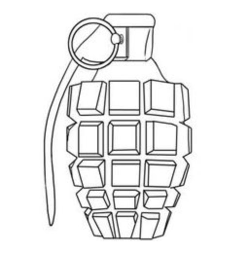 512x522 How To Draw Grenade