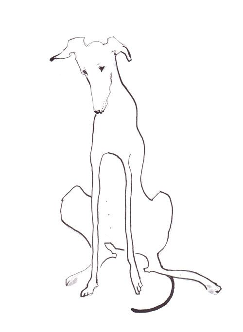 500x684 This Dog Is Created Almost Out Of One Pen Line Yet Expresses So