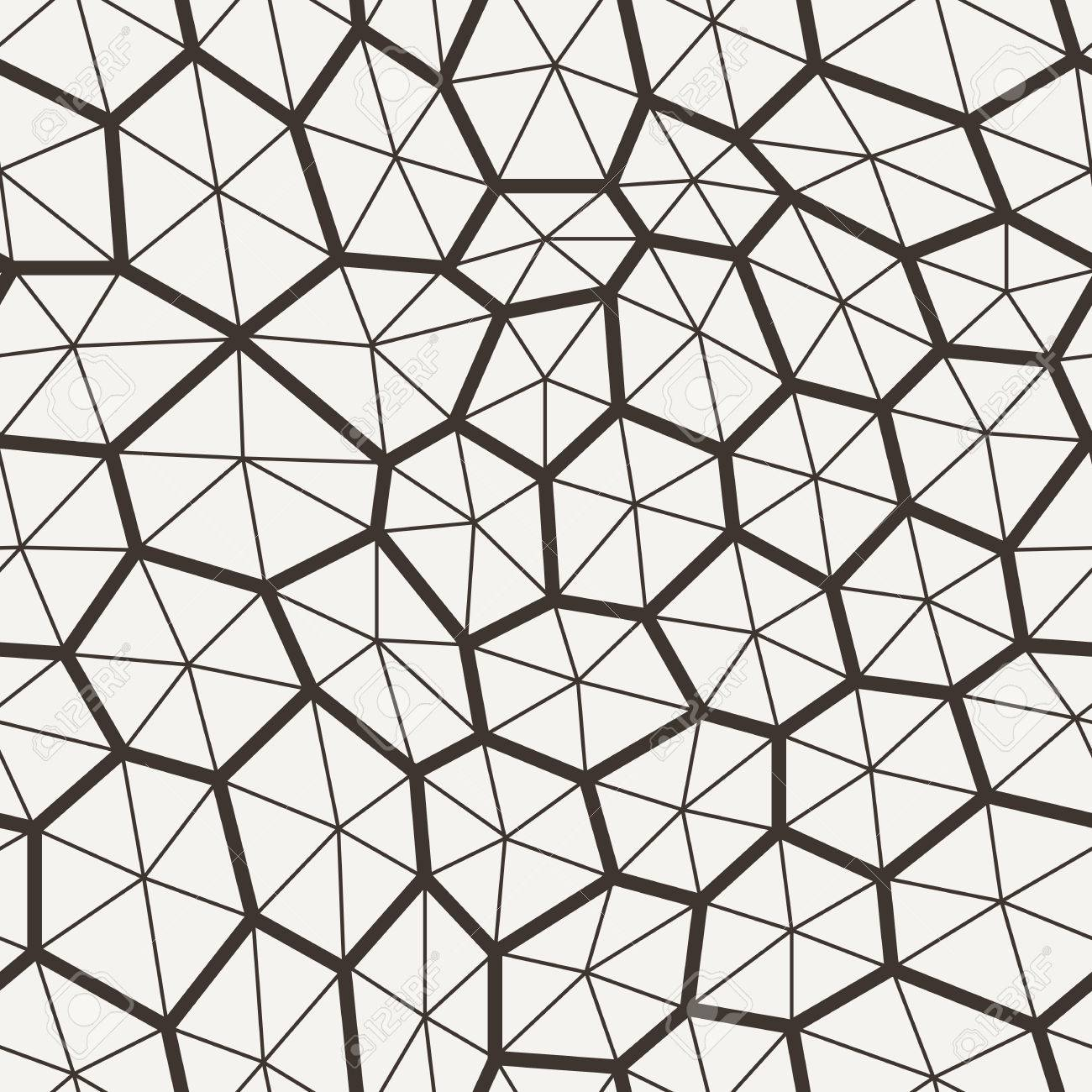 1300x1300 Vector Seamless Pattern In A Grid Polygons With Lines