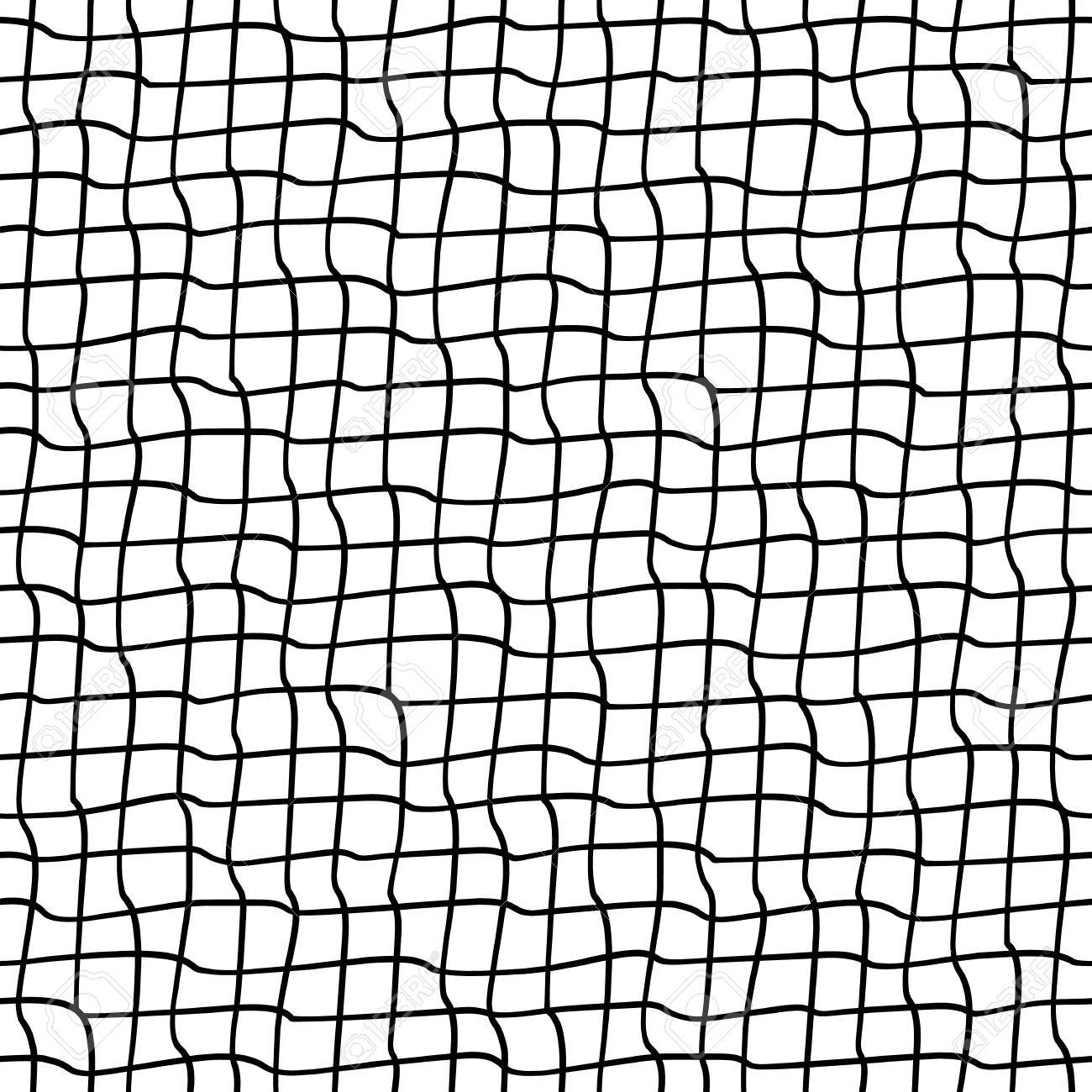 1300x1300 Seamless Pattern With Crossed Wavy Lines. Grid Texture Royalty
