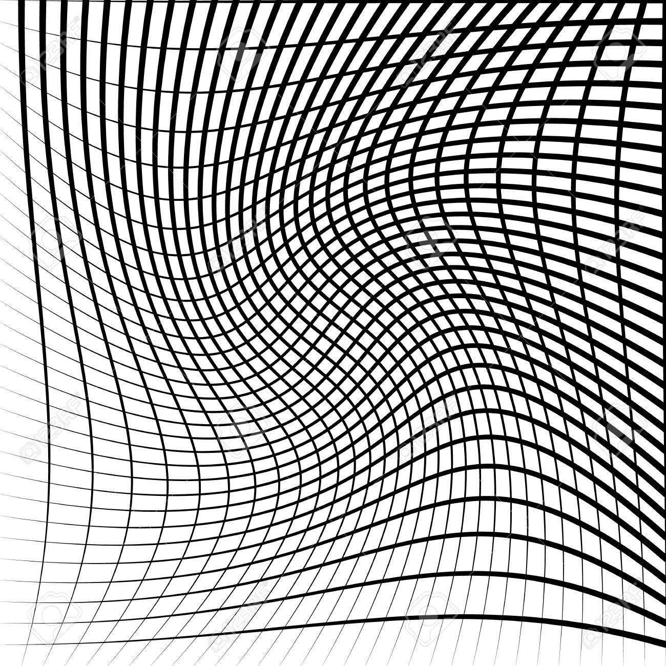 1300x1300 Abstract Grid, Mesh With Twirling, Rotating Distortion Effect