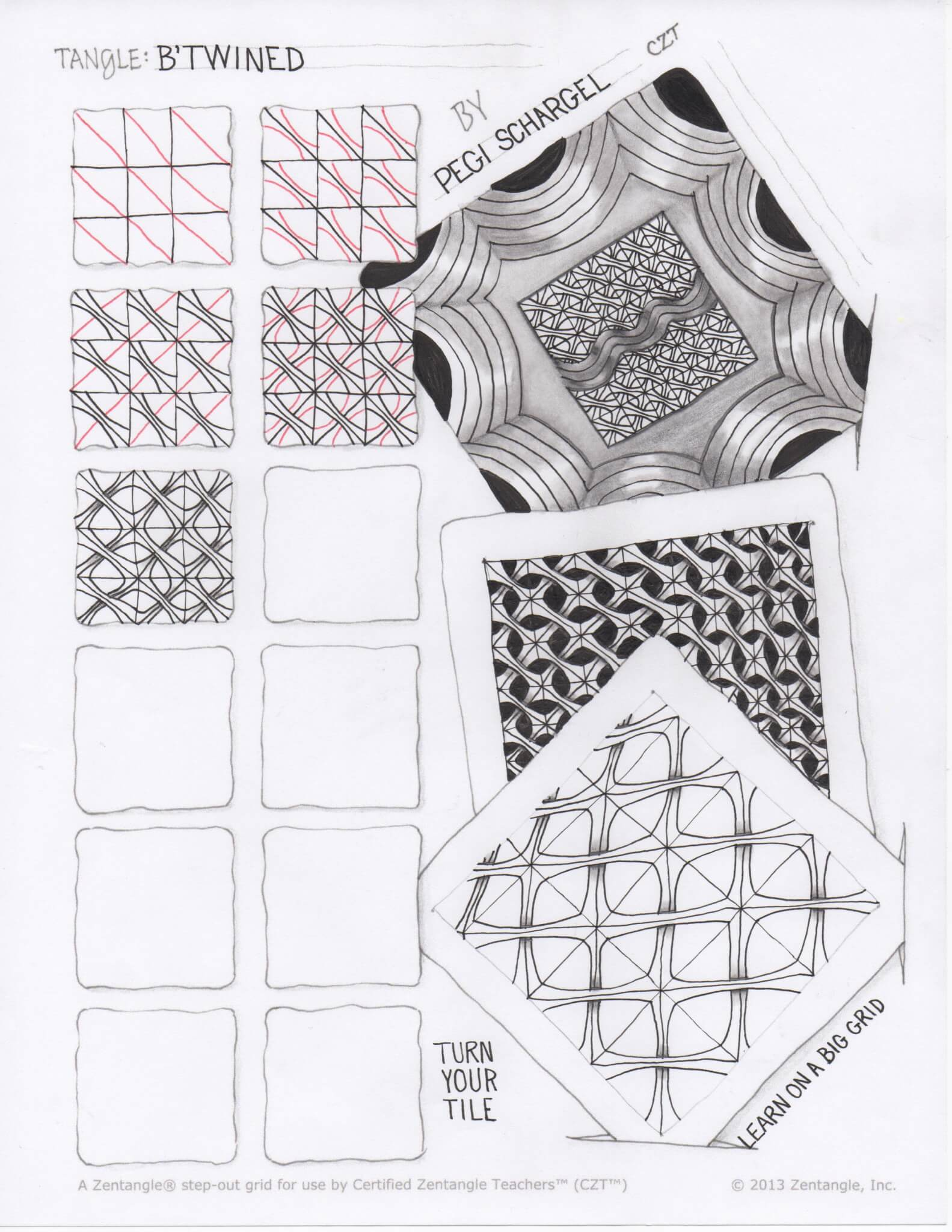1583x2048 Zentangle B'Twined A New Tangle By Pegi Schargel, Czt Do More