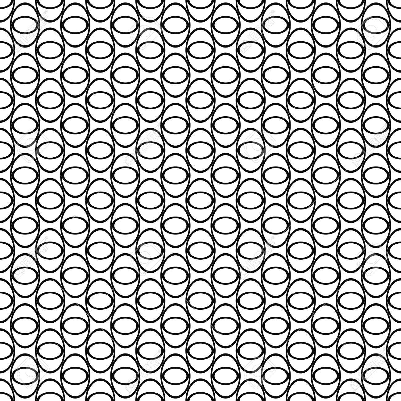 1300x1300 Black And White Seamless Ellipse Grid Pattern Royalty Free