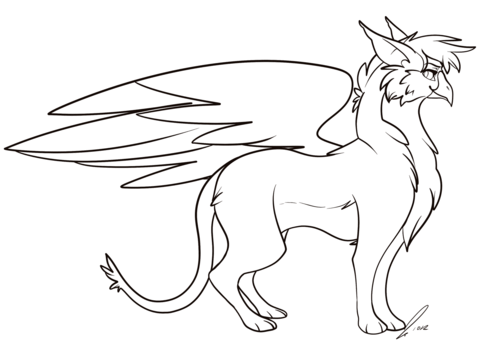 480x345 Cartoon Griffin Coloring Page Free Printable Coloring Pages