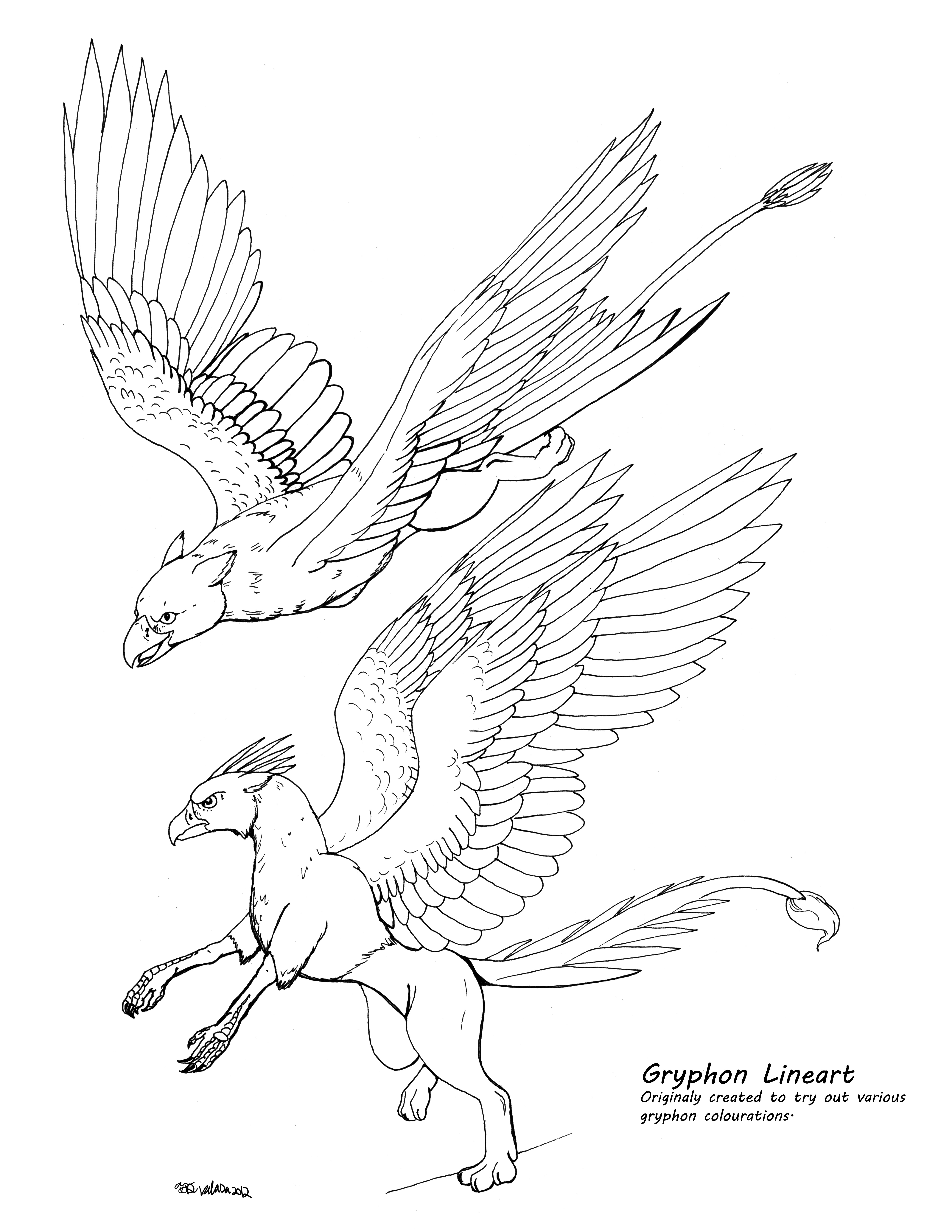 5100x6600 Drawing A Gryphon