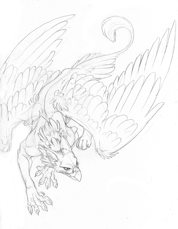583x750 Griffin Tattoo, Would Be Sweet Incorporated Into A Sleeve