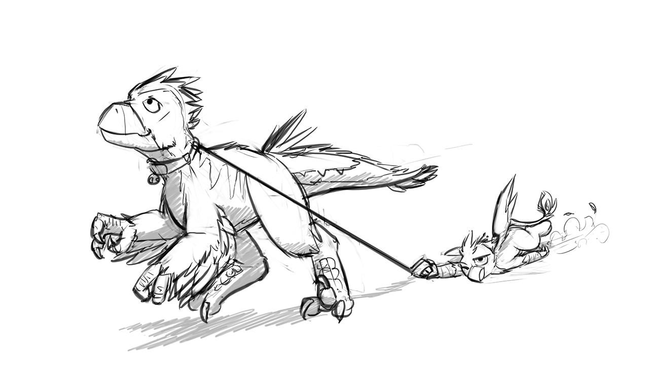 Griffon Drawing