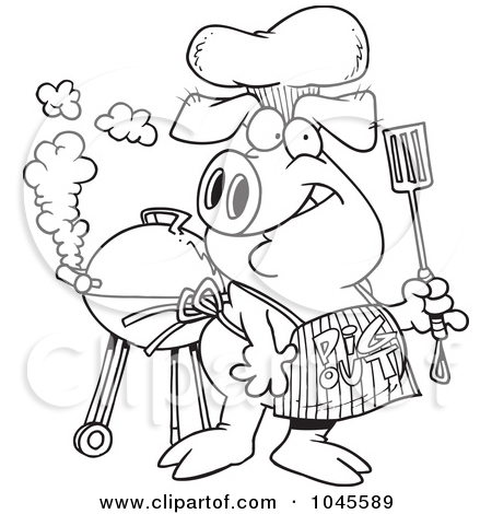 450x470 Drawings Of Pgs And White Outline Design Of A Bbq Pig