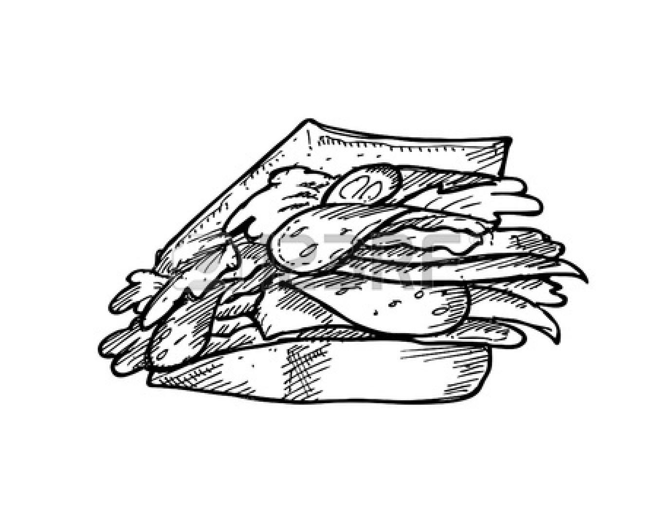 1350x1074 Cute Sandwich Drawing Clipart Panda