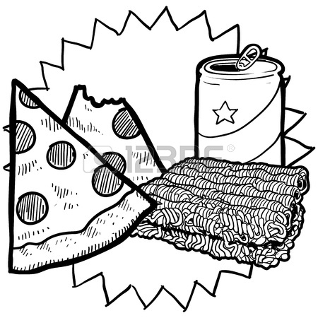 450x450 Doodle Style Gooey Grilled Cheese Sandwich Illustration In Vector