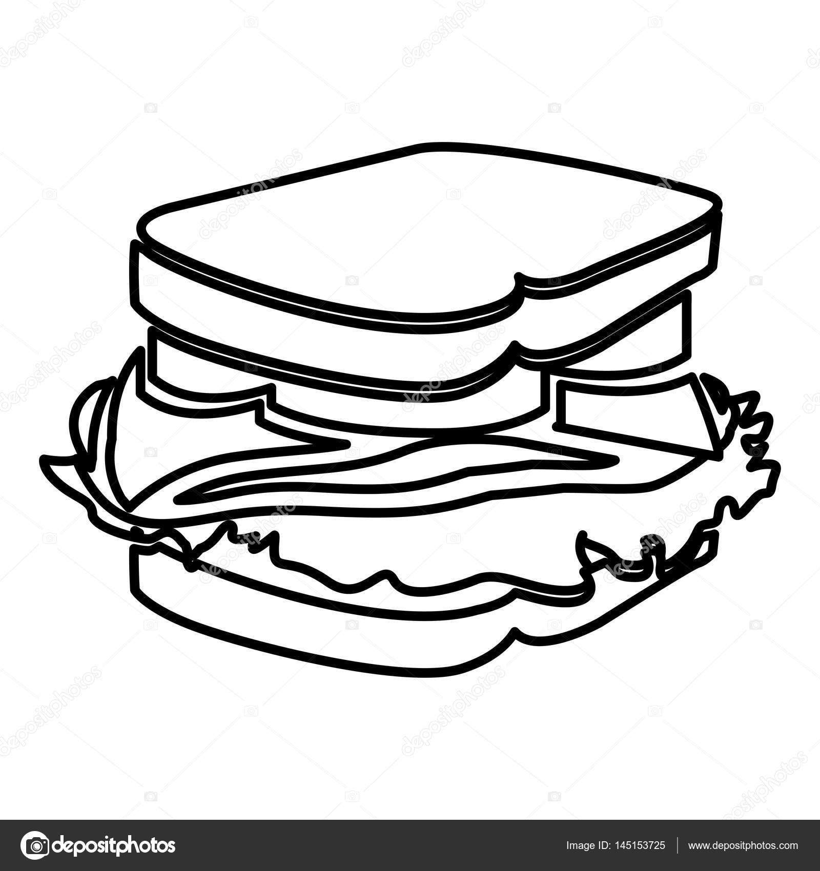 1600x1700 Figure Sandwich Fast Food Icon Stock Vector Grgroupstock