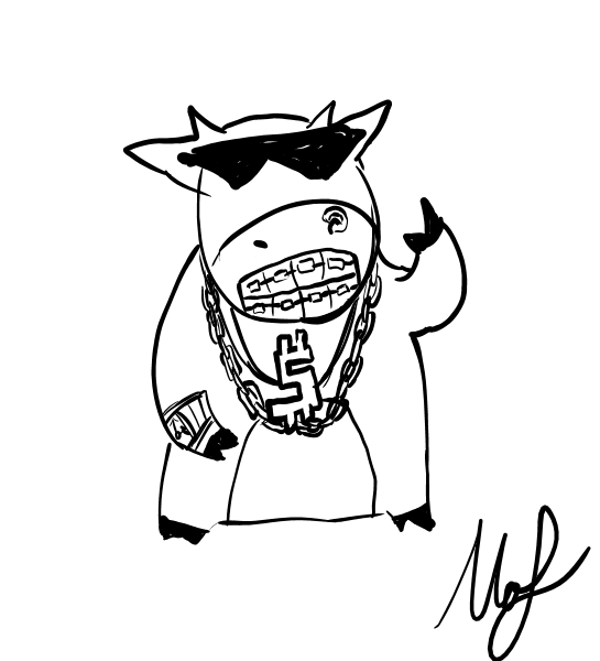 545x600 Cool Cow With Grillz By Mof Bleah