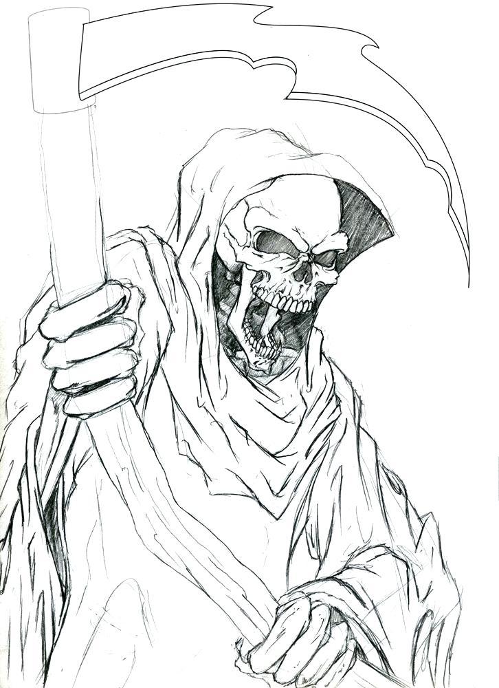 Grim Reaper Drawing at GetDrawings | Free download