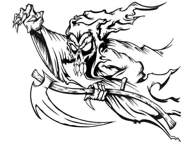 Lines Are Used In Art To Indicate : Grim reaper line drawing at getdrawings free for