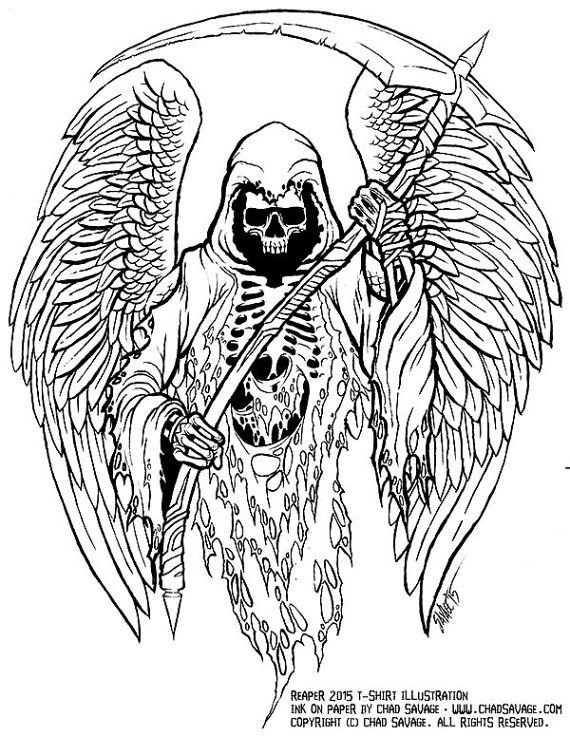 grim reaper line drawing at getdrawings com free for personal use