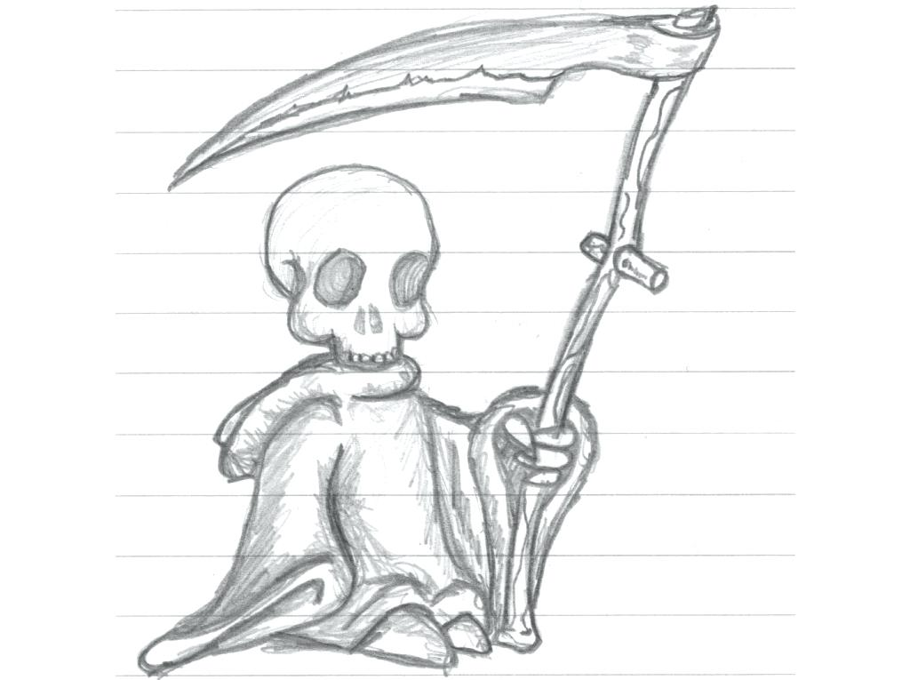 Grim Reaper Pencil Dra...