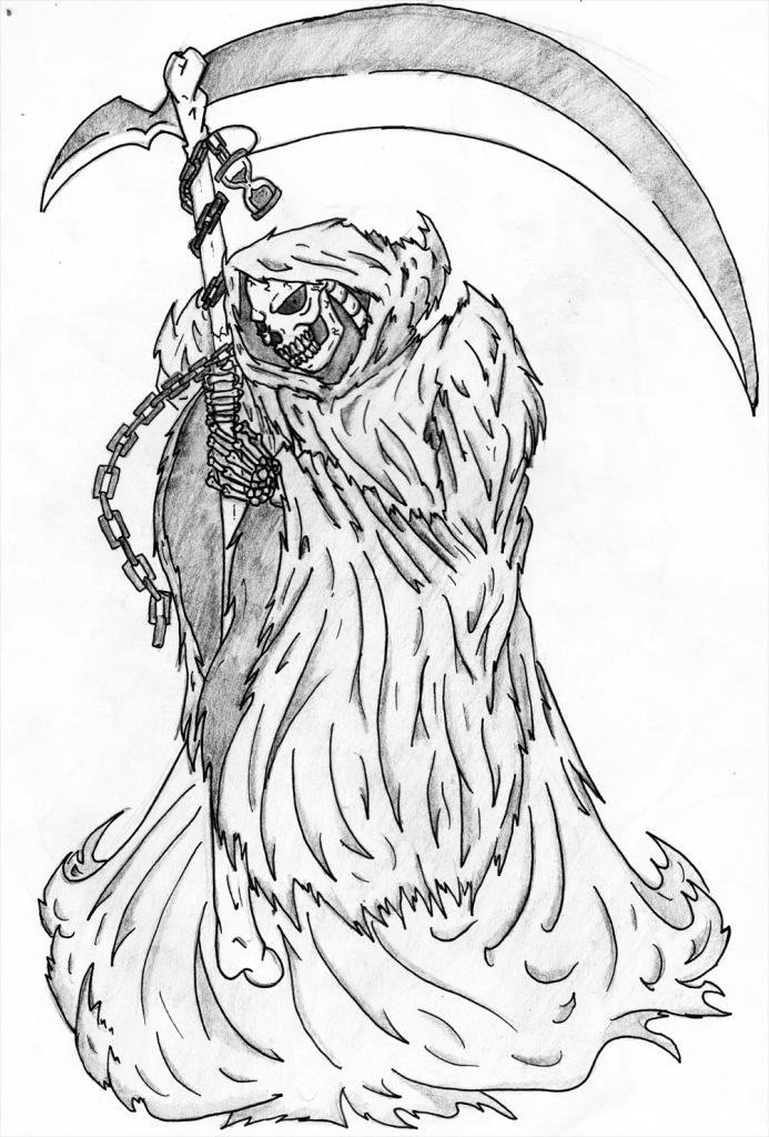 693x1024 Grim Reaper Drawing Grim Reaper Rumilax