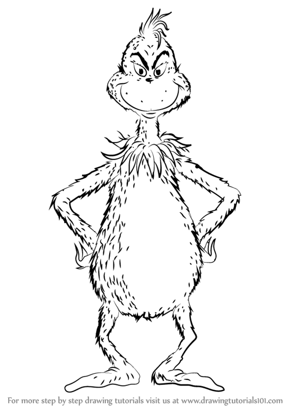 566x800 Learn How To Draw The Grinch (Grinch) Step By Step Drawing Tutorials