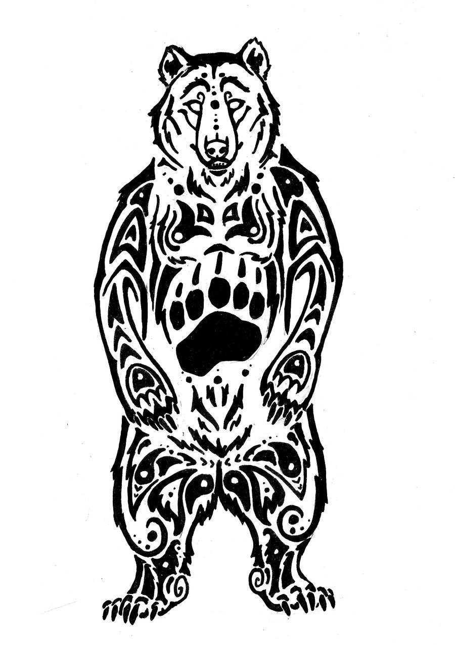 900x1276 Collection Of Bear Tattoo