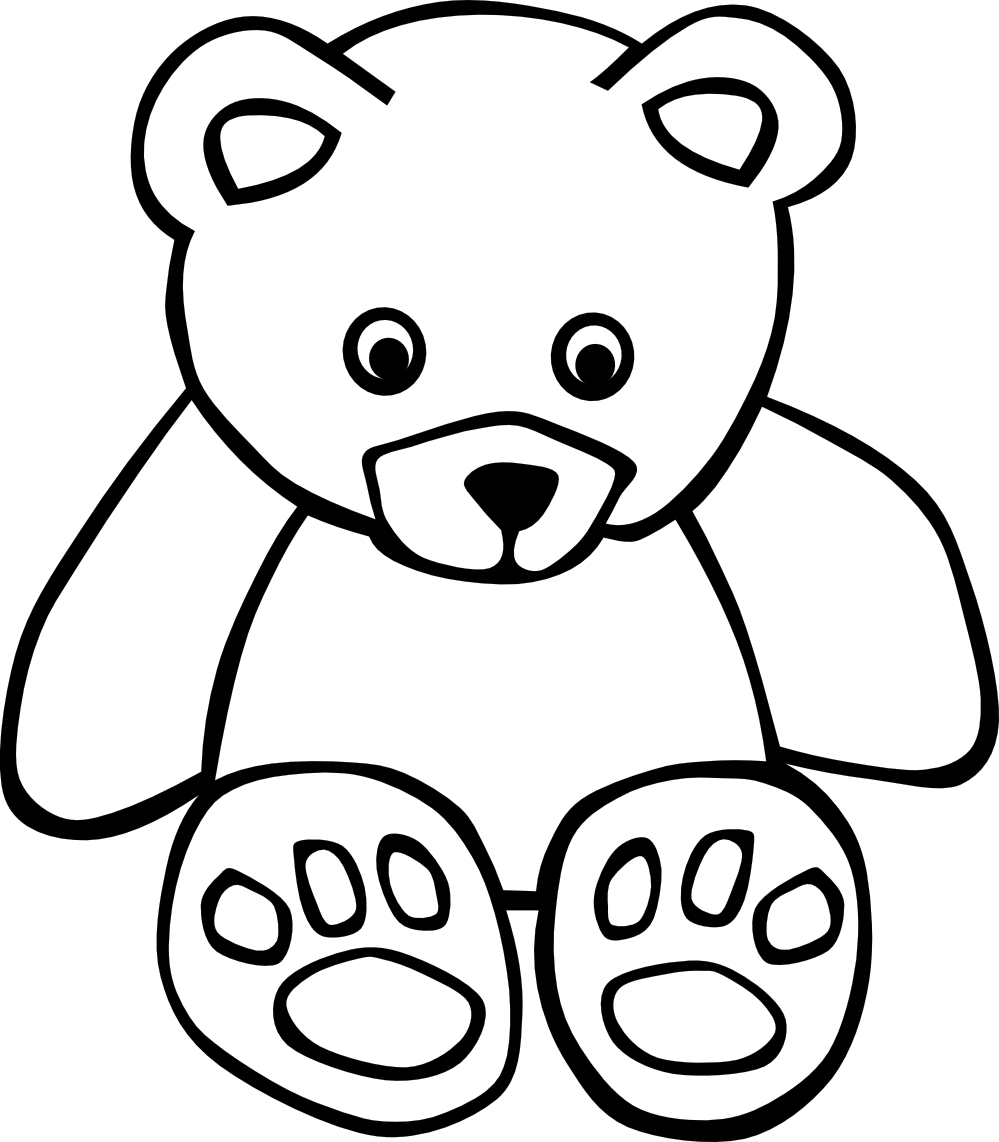 Coloring Pages Free Printable 999x1142 Grizzly Bear Standing Clipart Panda