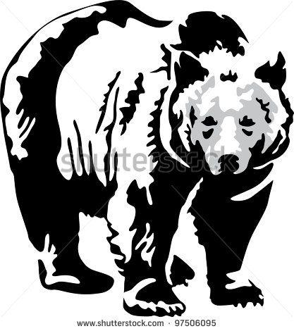 417x470 The Best Bear Stencil Ideas On Bear Template, Bear