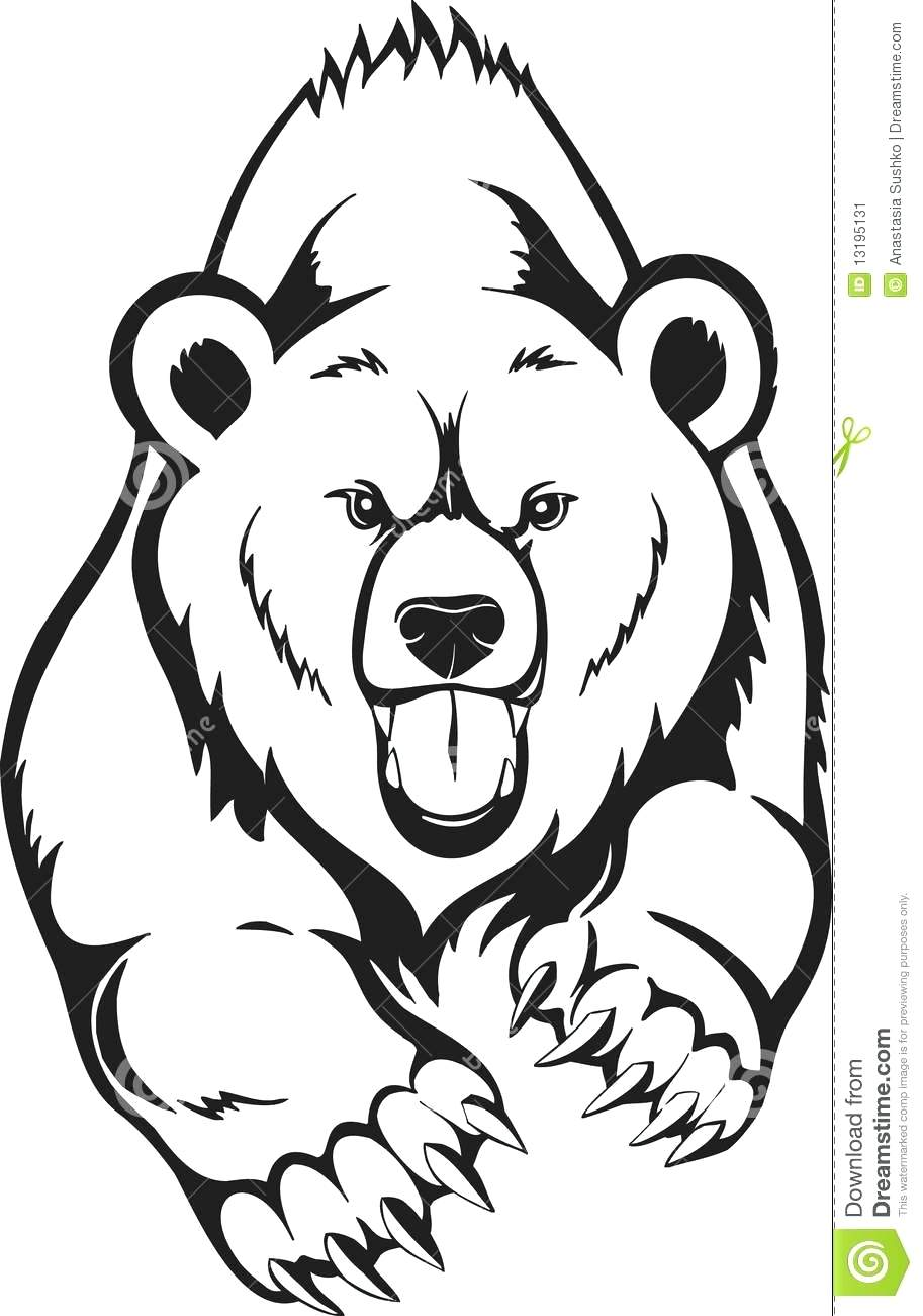 Grizzly Bear Drawing Standing at GetDrawings.com | Free for personal ...