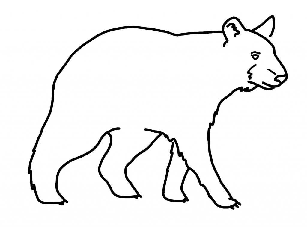 1024x758 How To Draw A Black Bear How To Draw A Grizzly Bear Step Step