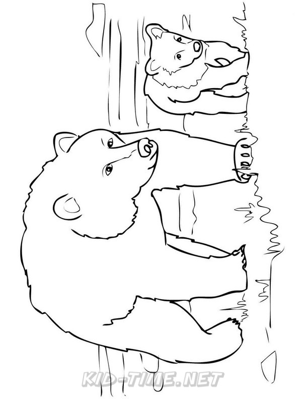 612x792 Grizzly Bear Coloring Pages 072.jpg Kids Time Free Coloring Book