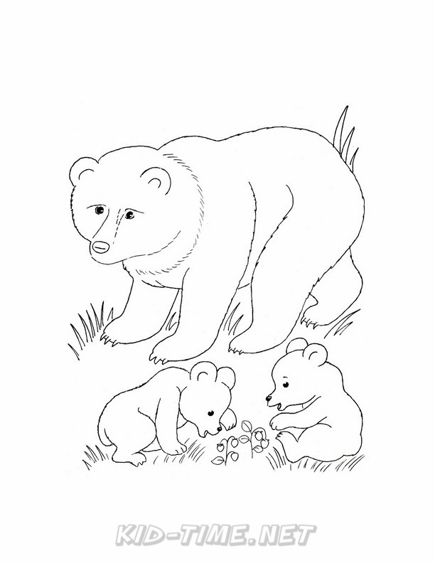 612x792 Grizzly Bear Coloring Pages 104.jpg Kids Time Free Coloring Book