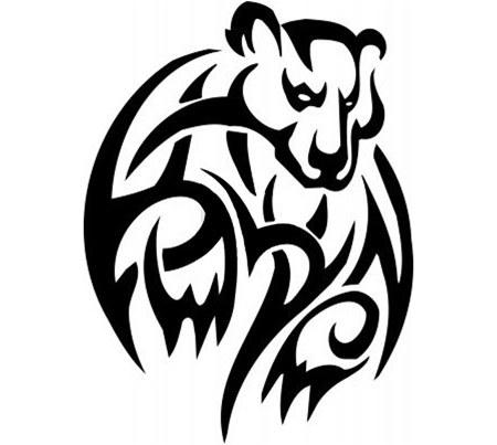 450x403 Top 10 Bear Tattoo Designs