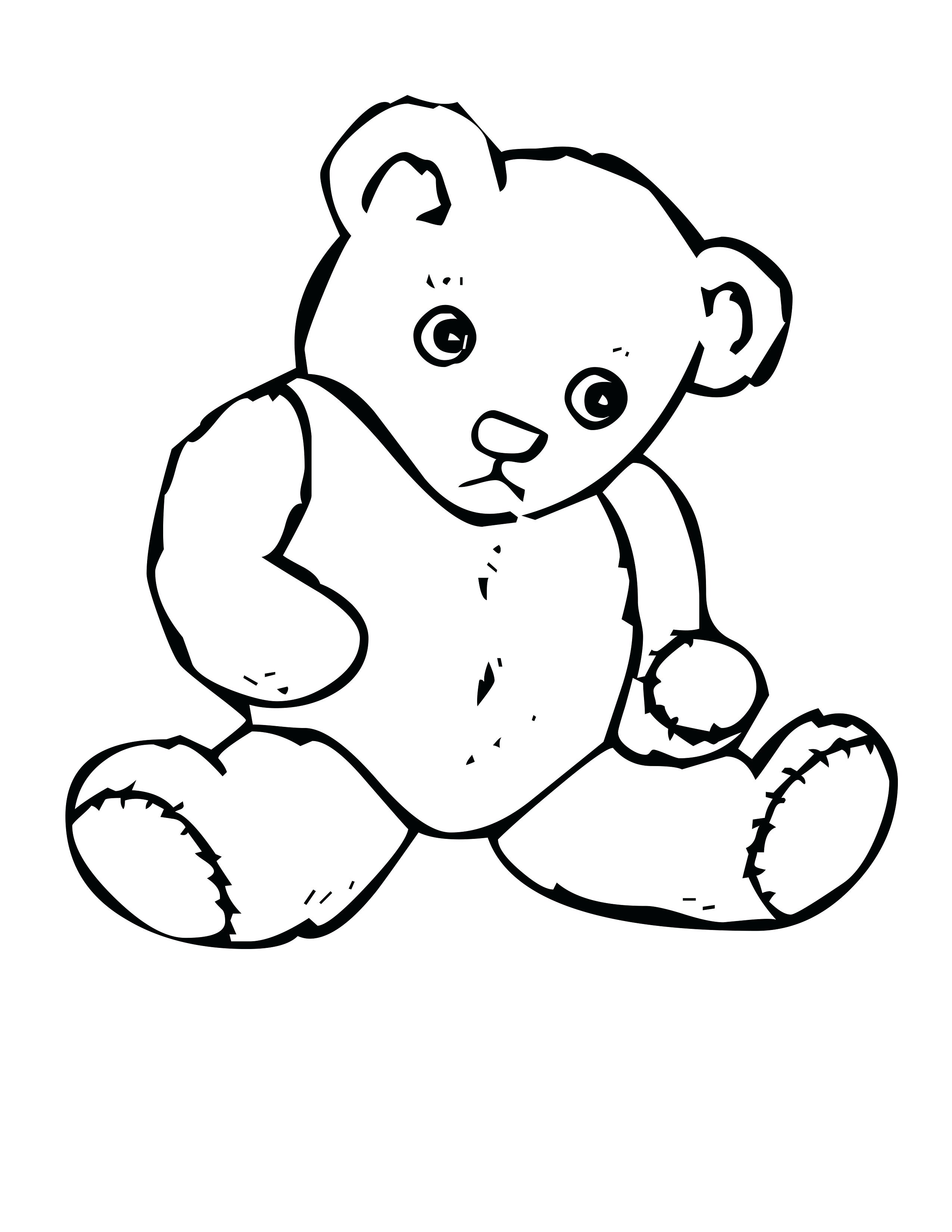 2550x3300 Coloring Grizzly Bear Coloring Pages